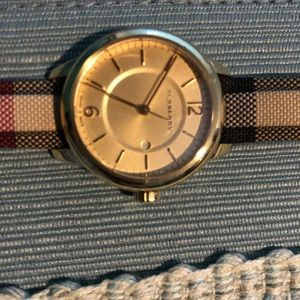 Burberry Accessories - Super cute, gold faced Burberry watch